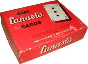 "Waddington's ""Real Canasta"" set, 1952"