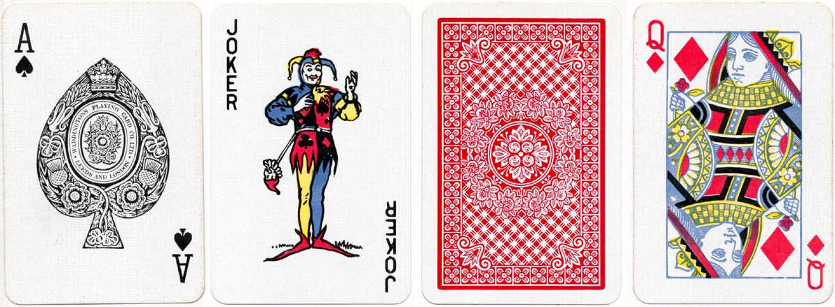 Sovereign playing cards printed by Waddingtons, c.1975