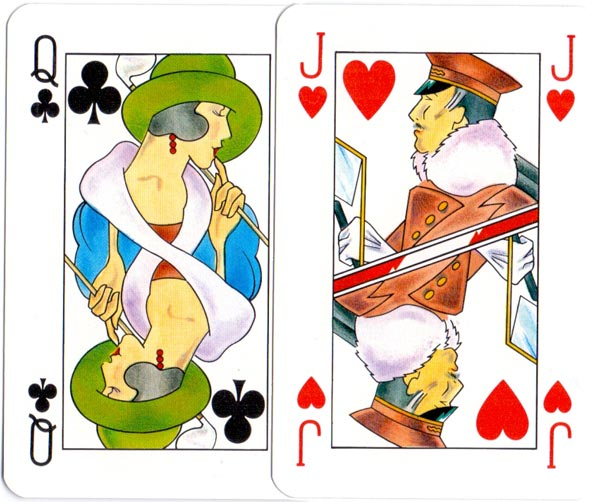Orient Express playing cards, c.1990