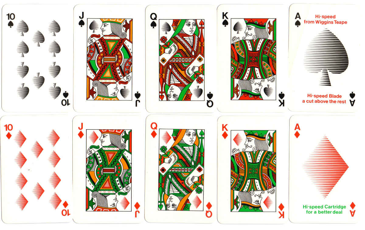 "Wiggins Teape ""Hi-Speed"" playing cards manufactured by John Waddington Ltd, c.1970"