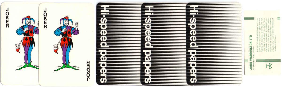 "Wiggins Teape ""Hi-Speed"" playing cards manufactured by John Waddington Ltd, c.1970"