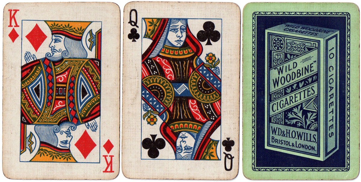Playing cards manufactured during war-time restrictions