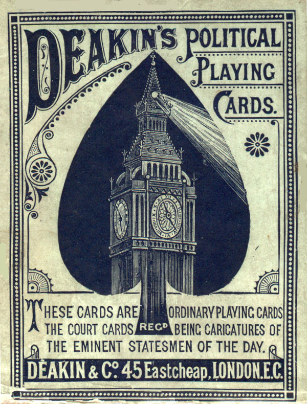 Deakin's Political Playing Cards 3rd edition, c.1888